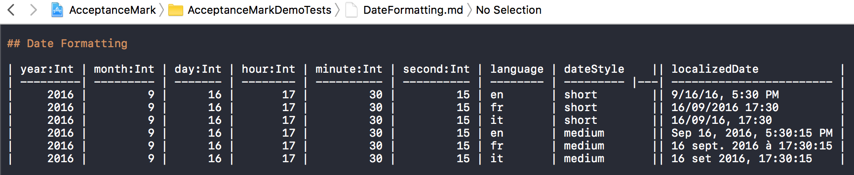 DateFormatting.md file